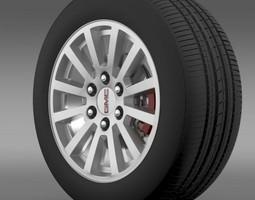 GMC Yukon Hybrid 2012 wheel 3D model