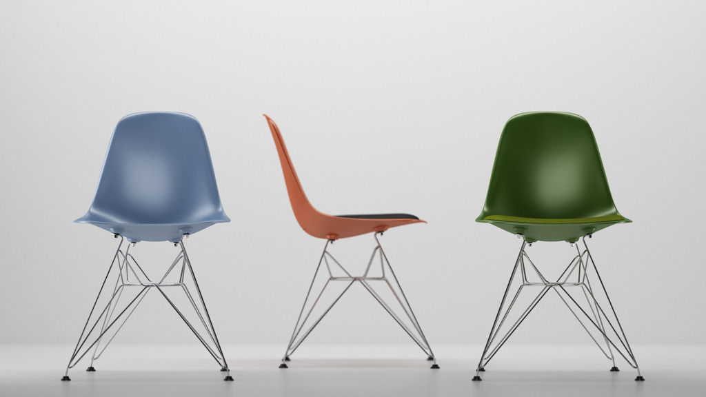 vitra eames plastic side chair dsr 3d cgtrader