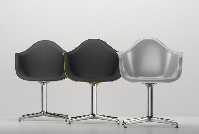 Eames Plastic Armchair : Vitra eames plastic armchair dal d cgtrader