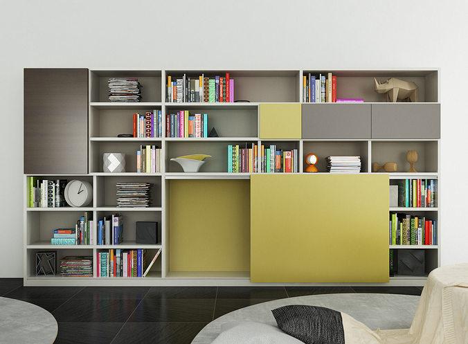 molteni 505 6 3d model c4d. Black Bedroom Furniture Sets. Home Design Ideas