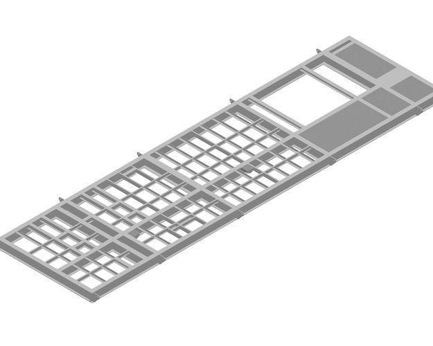 horizontal inlet separator package 3d model dwg