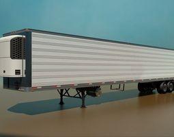 53 foot refrigerated semi trailer 3d model max obj 3ds fbx