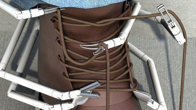 the shoelacer arachnoid 3d model max 1