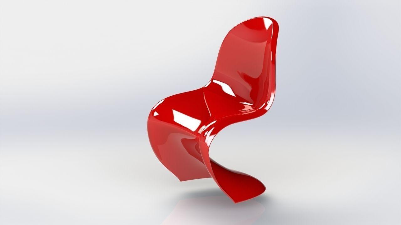 panton chair 3d model stl sldprt sldasm slddrw 1