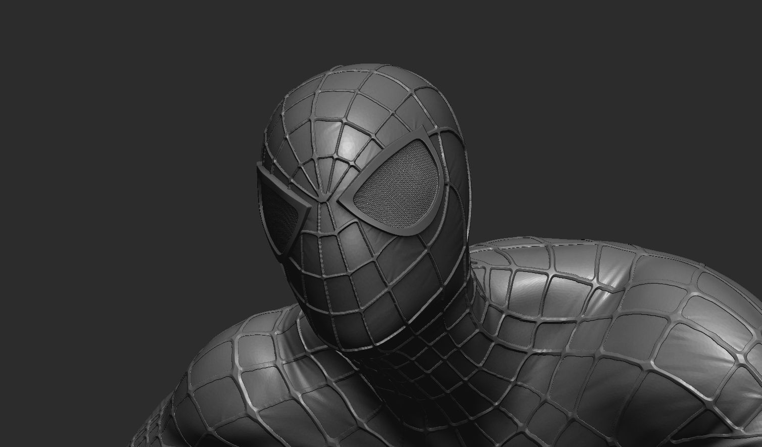 spider man model 3d model obj