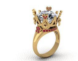 brillante 3D print model Ring Brun