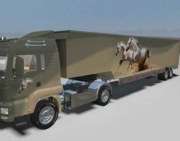 TGX 680 MAN Truck and Trailer 3D model