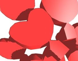 3d model valentines day heart soft block special aaa