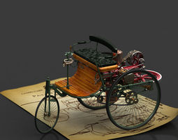 Benz Motorwagen 1888 3D