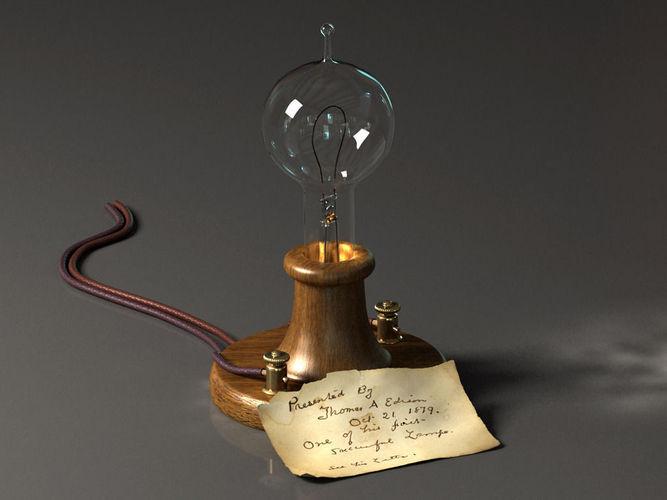 Edison Lamp3D model