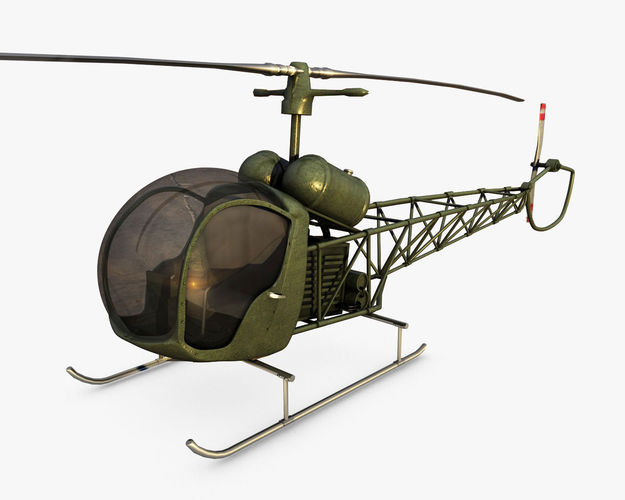 Bell 47 Helicopter3D model
