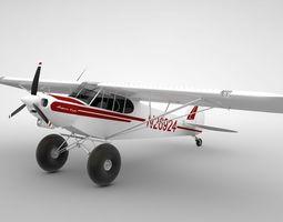 Piper Super Cub Bushplane 3D Model