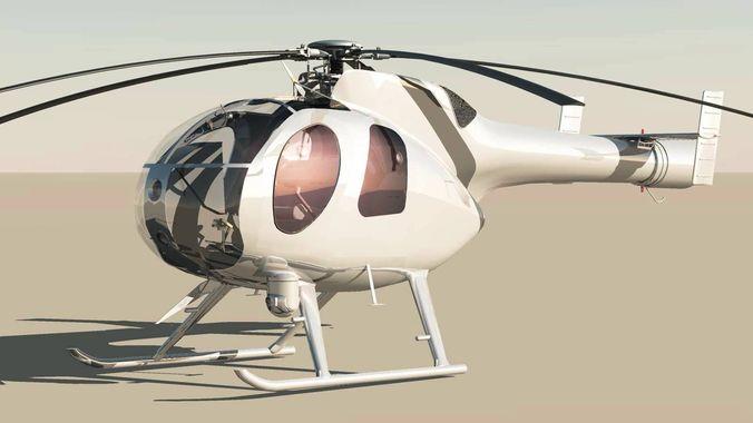 MD-500 Model 369D NOTAR Helicopter3D model