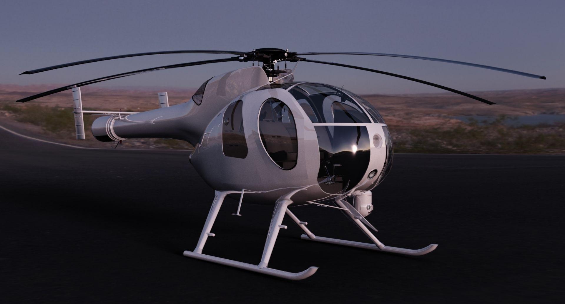 MD-500 Model 369D NOTAR Helicopter 3D Model .max .obj .3ds .fbx .c4d .skp - CGTrader.com