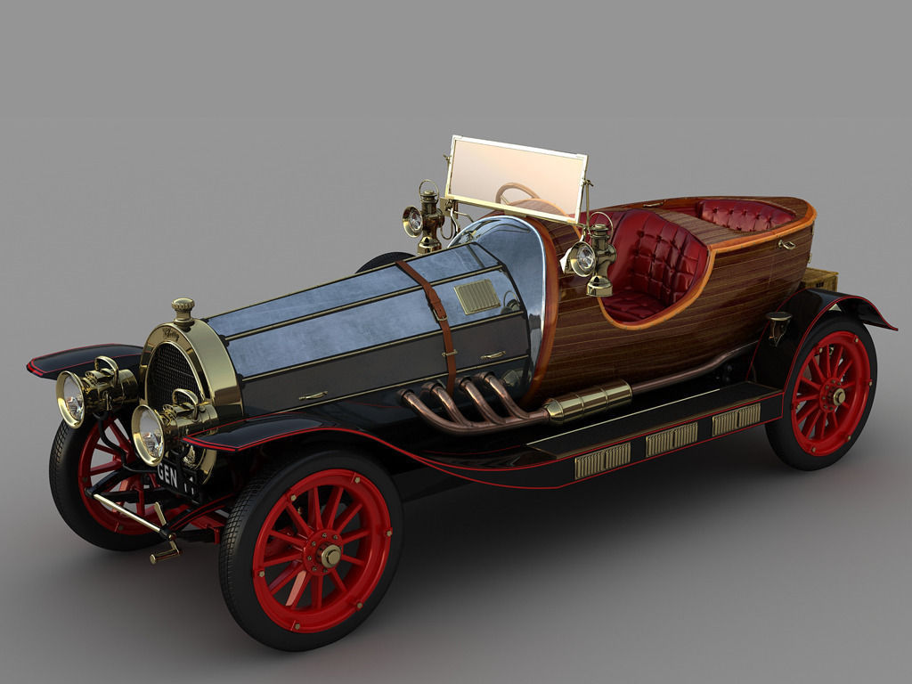 Chitty chitty bang bang 3d model animated max for 3d model viewer