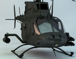 Kiowa Warrior Reconnasiance Helicopter 3D Model