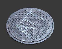 att manhole cover 3d model