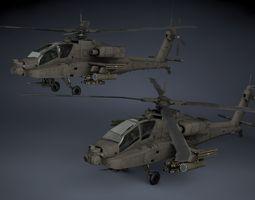 AH-64A Apache 3D Model