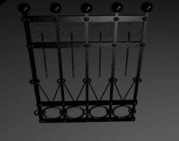 3d model game-ready fence