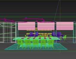 Mr Office 01 3D Model