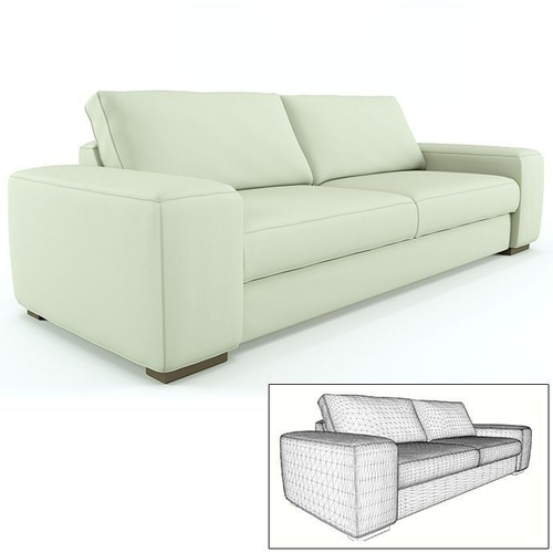 Contemporary sofa and armchair3D model