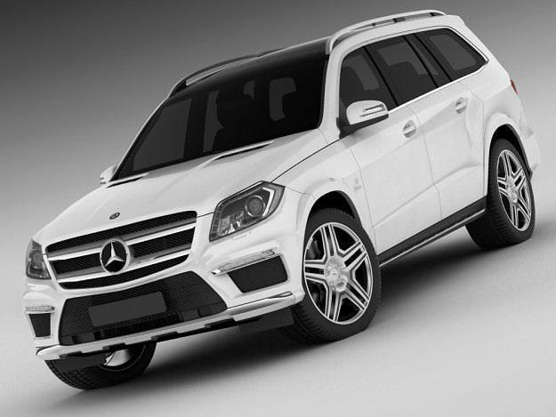Mercedes gl amg 2013 3d cgtrader for Mercedes benz suv models list