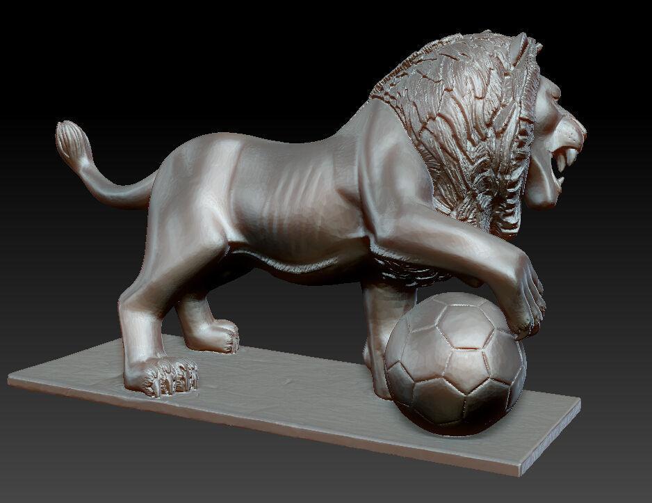 Cat Food Ratings >> Lion Sculpture 3D Model 3D printable OBJ STL ZTL | CGTrader.com