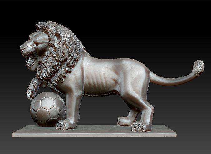 lion sculpture 3d model obj stl ztl 1