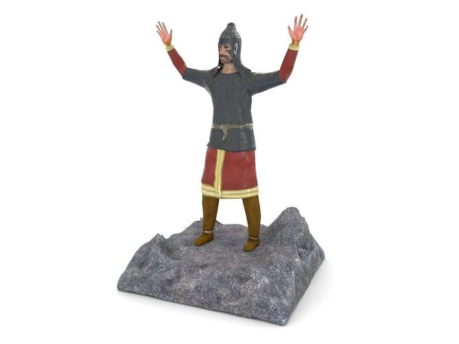 Figurine of an ancient warrior3D model