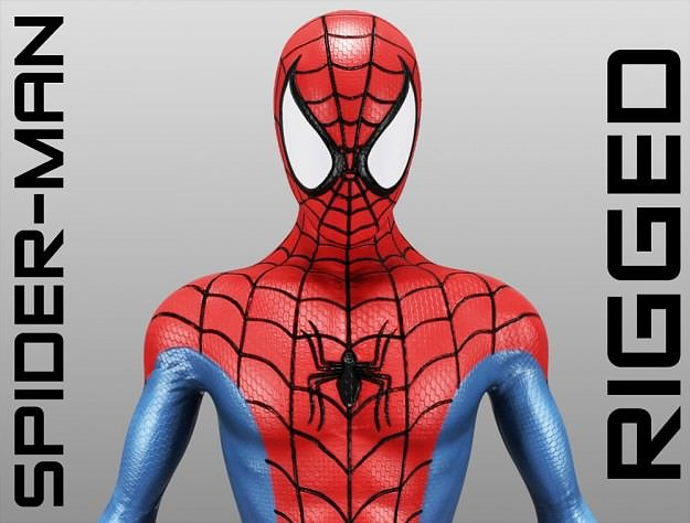 spider-man 3d model rigged max obj 3ds c4d lwo lw lws hrc xsi 1