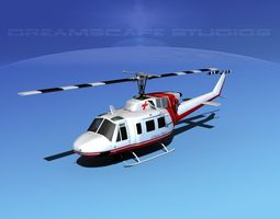 Bell 212 Critical Flight 3D Model