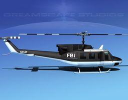 Bell 212 FBI 3D Model