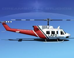 Bell 212 LAFD 3D Model