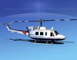 Bell 212 Life Flight 3D Model