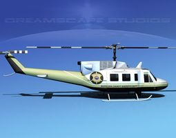 Bell 212 Maricopa County Sheriff 3D Model