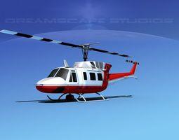 Bell 212 Mercy Flight 3D Model