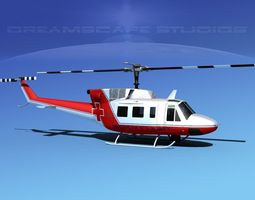 Bell 212 Mercy Flight 3D Model