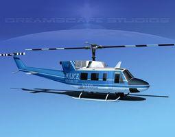 Bell 212 New York Police 3D Model