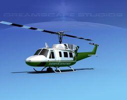 Bell 212 V05 Sheriffs Department 3D Model