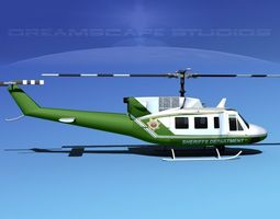 Bell 212 V05 Sheriffs Department 3D Model