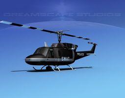 Bell 212 V06 Police SWAT 3D Model