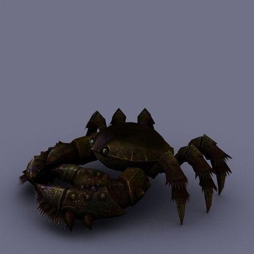 marine inhabitants crab cartoon 013D model
