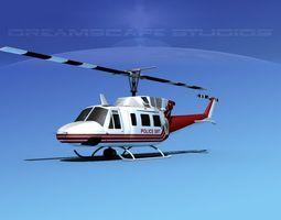 Bell 212 V10 Police SRT 3D Model