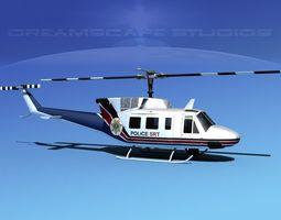 Bell 212 V11 Police SRT 3D Model