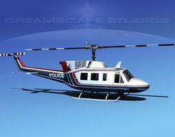 bell 212 v13 police srt 3d model rigged max obj 3ds lwo lw lws dxf stl