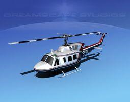Bell 212 V13 Police SRT 3D Model