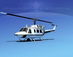 Bell 212 V21 Unmarked 3D Model