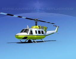 bell 212 v22 unmarked 3d model rigged max obj 3ds lwo lw lws dxf stl