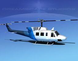 Bell 212 V24 Unmarked 3D Model