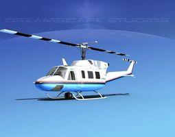 Bell 212 V25 Unmarked 3D Model